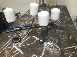A collection of Candle Holders made by Students